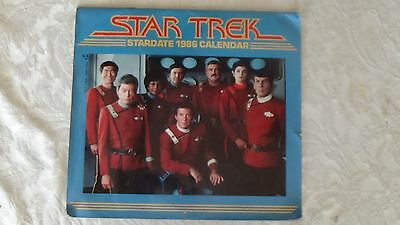 STAR TREK 1986 calendar Good condition