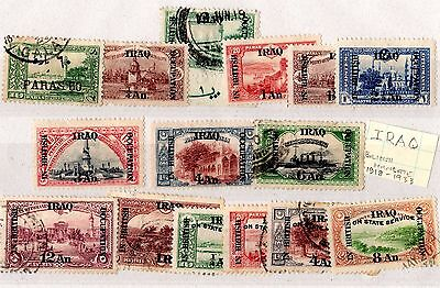 Iraq 1918/53 British Mandate Collection of 15 Mint/Used X5528