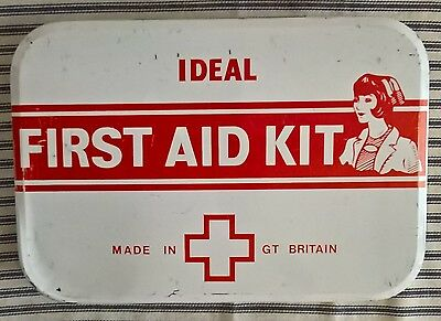 Vintage Ideal First Aid Tin & contents