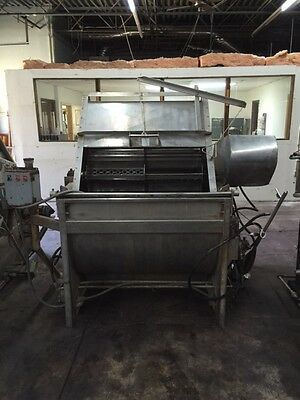 Paddle Dye Machine with Hydraulics - Rome-type - Approximately 150 lb capacity