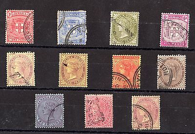Jamaica QV Collection of 11 Mint/Fine Used X5533