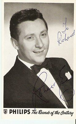 ROBERT EARL English  50s/60s Singer    Signed pic