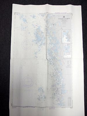 1979 Defense Mapping Agency Nautical Chart Vaderobod to Stromstad 43374 3rd Ed