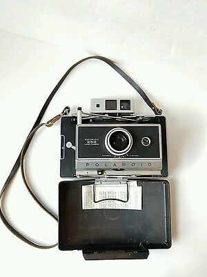 Vintage Polaroid Automatic 250 Land Camera with Case 268 Flash and Case