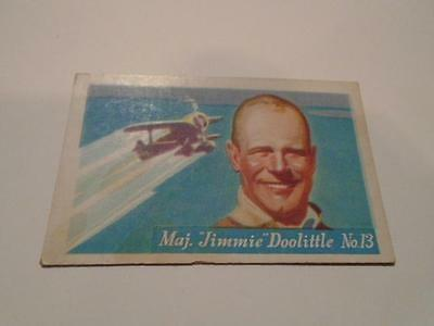 Vintage HJ Heinz Breakfast Cereal Famous Airplane Jimmie Doolittle Trading Card
