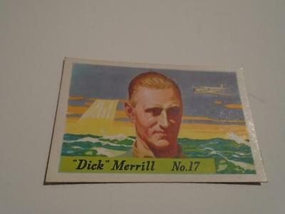 Vintage HJ Heinz Breakfast Cereal Famous Airplane Dick Merril No 17 Trading Card