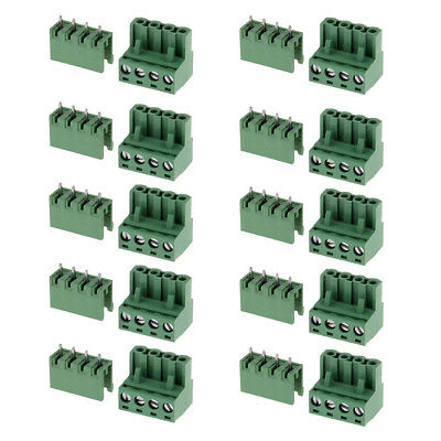 10x Mini 5.08mm Straight 4 pin Screw Terminal Block Connector Pluggable Type