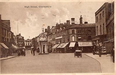 High Street Chelmsford Essex Early Edwardian RP Postcard g1