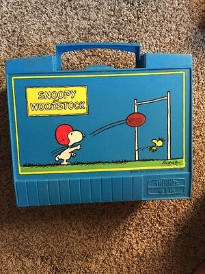 1971 Snoopy And Woodstock Thermos Lunch Box