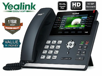 Yealink SIP-T46G IP Phone 16 SIP Ultra-Elegant Gigabit Colour Display IP Phone