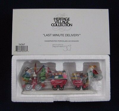 """Dept 56 North Pole """"LAST MINUTE DELIVERY"""" #56367 NEW Never out/Box"""