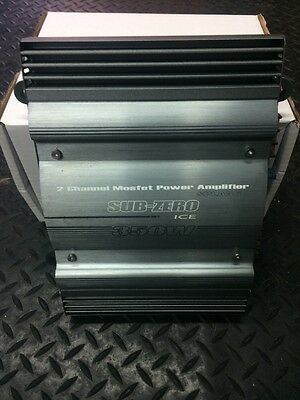 350w Car Amplifier Subzero Ice Ex Display (sold As Used)