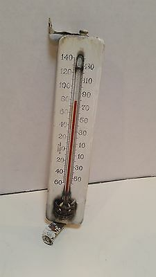 """Antique Vintage American Ther Co. St. Louis Porcelain Thermometer 8"""""""