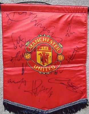 Manchester United Football Club Signed Pennant