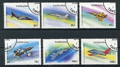 TANZANIA 1994 Stamps Aviation Airmail Planes Military Aircrafts