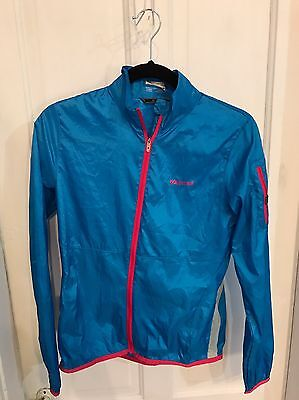 MARMOT Anne Small Blue/Pink ULTRA LIGHT BREATHABLE RUNNING JACKET EUC