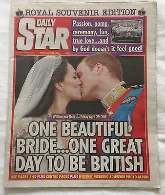 Royal Wedding Daily Star Newspaper William & Kate 2011