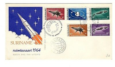 SURINAME 1964 FDC First Day Cover SPACE AVIATION