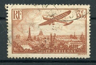 FRANCE 1936 Air Post Stamp 3.50 Fr C13 Used Airmail Aviation Planes