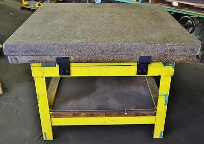 "48"" x 48"" x 6"" Granite Plate SALT PEPPER 2 Ledges"