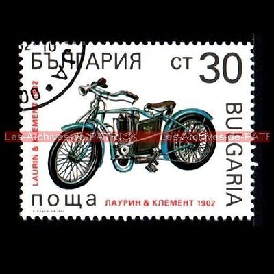 LAURIN & KLEMENT 1902 - BULGARIA BULGARIE Moto Timbre Frimærke