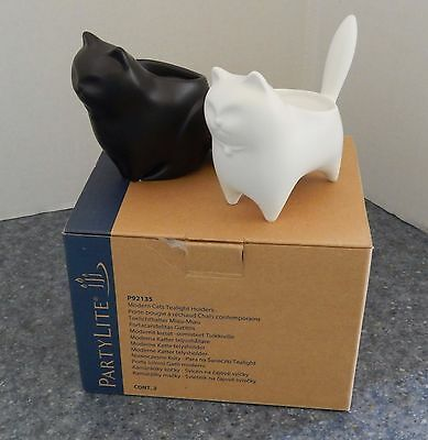 Partylite #92135 Modern Cats Tealight Holders - NEW IN BOX