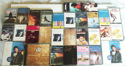 ref. 3590 MASSIVE COLLECTION OF CLIFF RICHARD  CASSETTES SOME EARLY