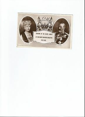 Vintage Rpp King George V & Queen Mary - Silver Jubilee 1935