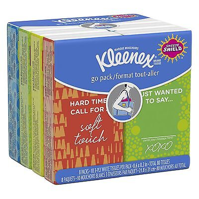160 KLEENEX Facial Tissues Pocket Klenex Face Cleaning Soft Paper Absorbent Pac