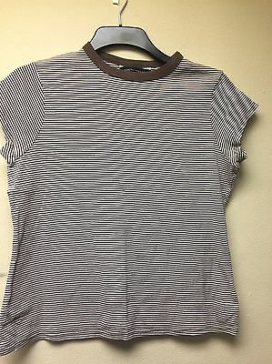 Ladies Brown Striped T-shirt (Dorothy Perkins - Size 18)