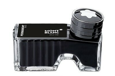 MONTBLANC FOUNTAIN PEN PERMANENT BLACK  INK INKWELL NEW IN BOX 60ml 107755