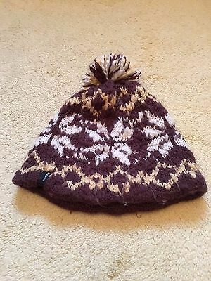 Ladies Seirus Winter Bobble Hat One Size - Natural & Brown