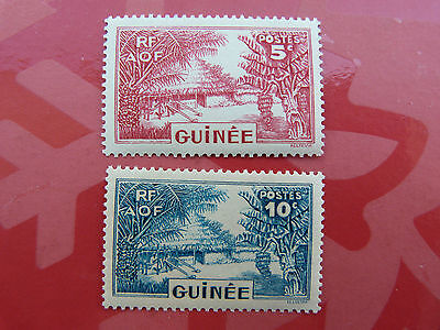 2 TIMBRES ----  RF - AOF --  GUINEE  5 & 10 c