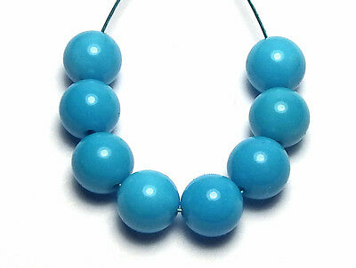 8 pcs SLEEPING BEAUTY TURQUOISE 6mm Round Beads AAA NATURAL COLOR /R5