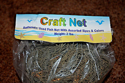 (1) 2 LBS.,Authentic Used Fish Net,RE- PURPOSED,Beach Decor,Home decor,DIY Net-1