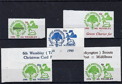Scouts Stamps 1990 Wembley  UM