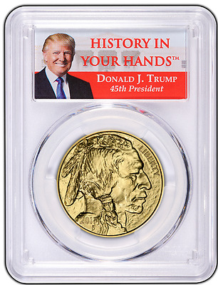 2017 TRUMP $50 GOLD BUFFALO PCGS MS70 FIRST STRIKE 1 oz PRESALE