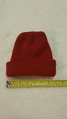Knit Cap Winter Little Boys Kids Toddler Baby Color Red One Size Beanie