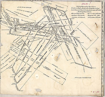 Rare Land Mining Mine Claim Map of Gold Hill Lodes Boulder County Colorado 1901