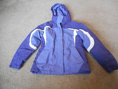 Ll Bean Girls Coat Jacket Parka Ski Size 8 With Hood Purple