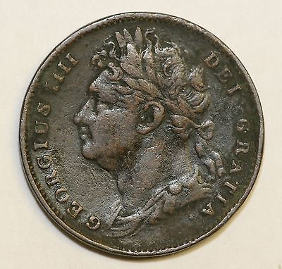 1823 George IV Copper Farthing Fine Condition