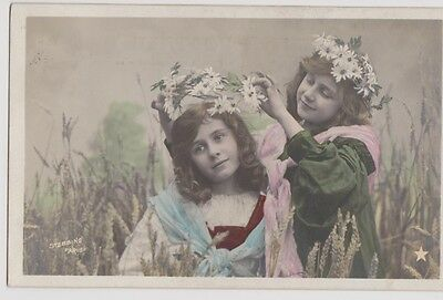 Children Making Daisy Chains Posted 1905