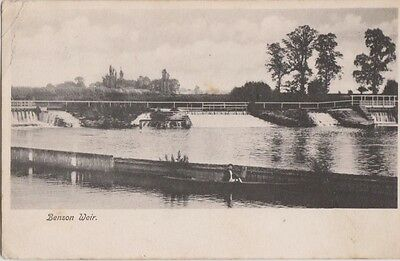 Benson Weir Lock  Oxfordshire Posted 1904