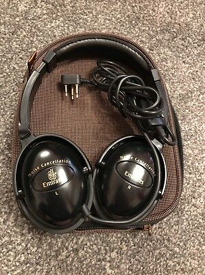 Emirates Noise Cancellation Triple Pin J Socket First Class Airline Headphones