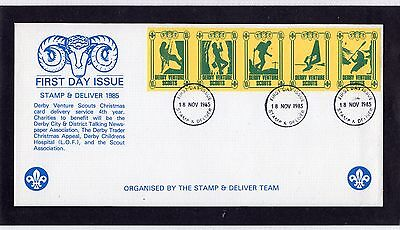 Scout Stamps 1985 Derby Venture Scouts FDC
