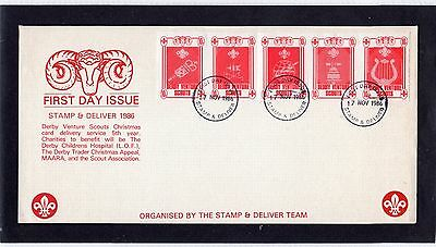 Scout Stamps 1986 Derby Venture Scouts FDC