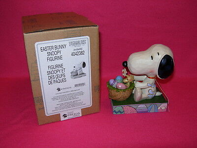 EASTER BUNNY SNOOPY  Jim Shore PEANUTS by Schulz 4042382  New in Box