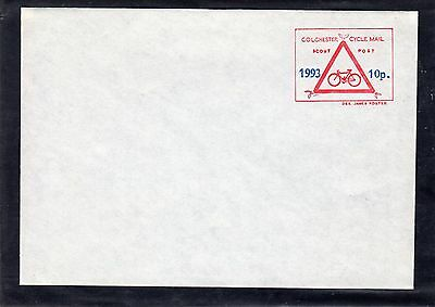 Scout Stamps 1994 Colchester Cycle Delivery FDC