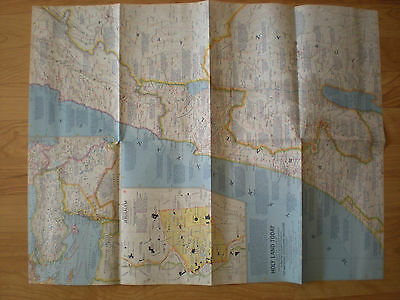 National Geographic Magazine Supplement Map December 1963 Holy Land Today MINT