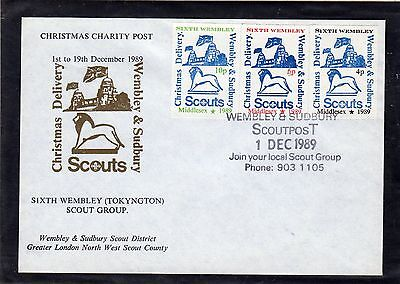 Scout Stamps 1989 Wembley & Sudbury  FDC